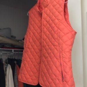Lovely thin down vest in Fall Orange!